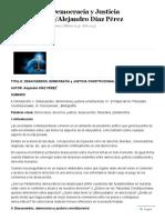 Lectura 6_desacuerdos, Democracia y Justicia Constitucional