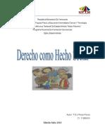 Derecho Como Hecho Social ENSAYO 1