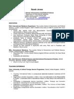 PhD Academic CV