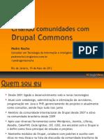 Criando Comunidades com Drupal Commons