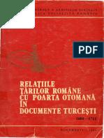 l. Relaiile Tarilor Romane Cu Poarta Otomana