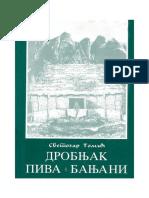 Svetozar Tomic - Drobnjak, Piva, Banjani