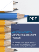 McK_Academy_McKinsey Management Program (MMP)_Brochure 2016