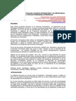 Estrategias Didácticas Del Docente Universitario y Su Importancia en El Proceso