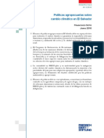 Politicas Agropecuarias Sobre Cambio Climático en El Salvador - Soto 2016