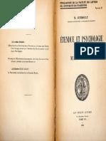 Gueroult, Martial-Étendue Et Psychologie Chez Malebranche