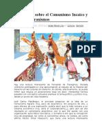 Disertación Sobre El Comunismo Incaico y Demás Anacronismos