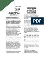 9. 20, Miguel Ospina, Efecto Del Humo de Silice en SFRC