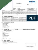 FATCA Declaration and Additional KYC Form