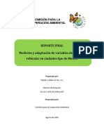 3689 Measurement and Adaptation Vehicle Activity Variables in Mexican Sample Cities Es