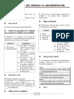 Modulo 13-Argumentaci+¦n