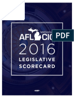 2016 MIAFLCIO Legislative Scorecard