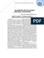 28. Revisión Judicial de Los Laudos Arbitrales Nacionales. Gualtiero Martín Marchesini