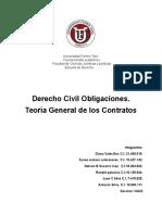 Trabajo Sobre Los Contratos. Derecho Civil Obligaciones UFT