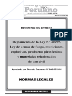 Decreto Supremo Nº 008-2016-In