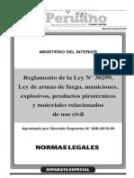 Decreto Supremo Nº 008-2016-In