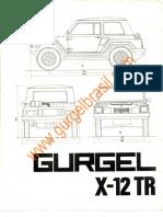 Manual de uso GURGEL_X-12_TR