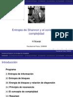 Teoría de la información  - charla UNAC