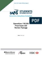 SOS Final Practice Questions