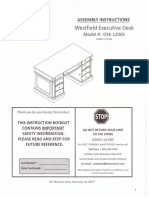 Westfield Executive Desk DSK-12005 Assembly Instructions