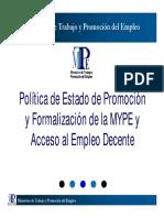 Politica Estado Promocion Mype