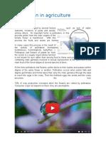 Web Quest Pollunation in Agriculture/ Polinizacion en la agricultura