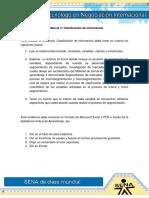 Evidencia 2 Clasificacion de Informacion Envio