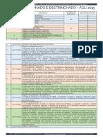 Cronograma de Revisão Para Advocacia Geral Da União