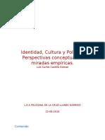 Ensayo Identidad Cultura y Politica