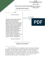 Hackett v. Artesia Police Department, 10th Cir. (2010)