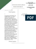 Wright v. Colorado Department, 10th Cir. (1997)