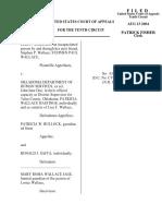 Wallace v. Oklahoma DHS, 10th Cir. (2004)