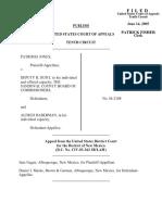 Jones v. Hunt, 410 F.3d 1221, 10th Cir. (2005)