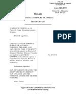 Wyoming Ex Rel. Crank v. United States, 539 F.3d 1236, 10th Cir. (2008)