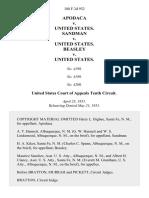 Apodaca v. United States. Sandman v. United States. Beasley v. United States, 188 F.2d 932, 10th Cir. (1951)