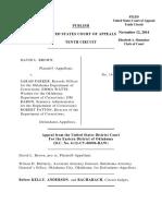 Brown v. Parker, 10th Cir. (2014)