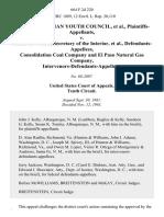 National Indian Youth Council v. James G. Watt, Secretary of the Interior, Consolidation Coal Company and El Paso Natural Gas Company, Intervenors-Defendants-Appellees, 664 F.2d 220, 10th Cir. (1981)