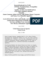 Medicare&medicaid Gu 37,851 Jose R.E. Martinez, Esquipula Baca, Tranquilino Manzanares and Hilario Aguilar, on Their Own Behalf and on Behalf of All Others Similarly Situated, James Lannom, Julian Garcia, Lillie Hogue, Danny Carpenter and Nancy Cox v. Lewis Sullivan, M.D., Individually, and as Secretary of the United States Department of Health and Human Services, and Blue Cross Association of New Mexico, 874 F.2d 751, 10th Cir. (1989)