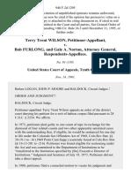Terry Trent Wilson v. Bob Furlong, and Gale A. Norton, Attorney General, 948 F.2d 1295, 10th Cir. (1991)
