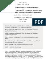 United States v. Ray Martinez Edgar Buezo, A/K/A Edgar Martinez Eloy Carranza and Rudy Rodriguez, 979 F.2d 1424, 10th Cir. (1992)