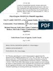 Floyd Eugene Maestas v. Salt Lake County, a Government Entity Bruce Thayne, Jail Commander Tom Schimizu, Salt Lake County Commissioner D. Michael Stewart, Salt Lake County Commissioner and Bart Barker, Salt Lake County Commissioner, 2 F.3d 1160, 10th Cir. (1993)