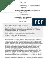 Mlawaa I. Abdalla, Also Known as Miawea Abdalla v. Immigration & Naturalization Service, 43 F.3d 1397, 10th Cir. (1994)
