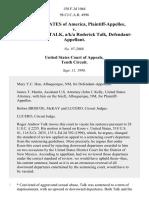 United States v. Roger Andrew Talk, A/K/A Roderick Talk, 158 F.3d 1064, 10th Cir. (1998)