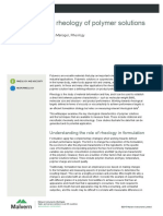 Measuring the Rheology of Polymer Solutions