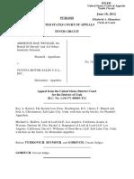 Winzler v. Toyota Motor Sales U.S.A., Inc, 10th Cir. (2012)
