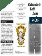 Left lane driving law