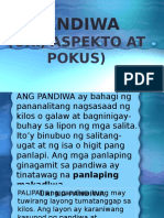 A PANDIWA URI, Aspekto at Pokus