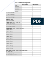 checklisthonorsspanish4