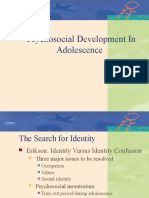 Social and Personality Development in Adolescence