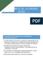 Modelo de La Cantidad Económica de La Orden
